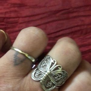 Sterling silver ring butterfly